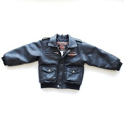 54e7b8ce7 HARLEY DAVIDSON BORN To Ride Kids Size 7 Faux Leather Jacket ...