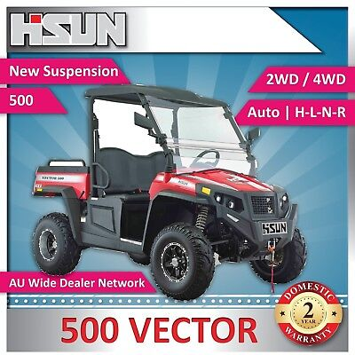 New Hisun 500 Vector Utility Vehicle  H-L-N-R 2/4WD, Winch, Roof & W-Screen