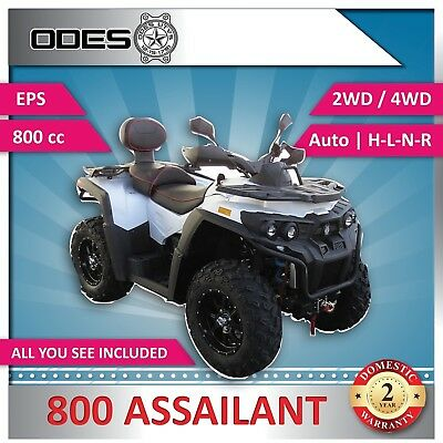 New ODES ASSAILANT Quad Bike 800 cc V-Twin 60 Hp ATV SAVE! $3650