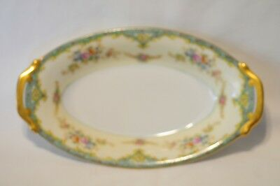 Vintage Meito China Cream and Floral Pattern Small Serving Dish