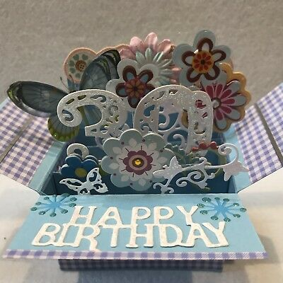 Handmade Birthday Card 30th Box Pop 3D Wife Sister Daughter Friend
