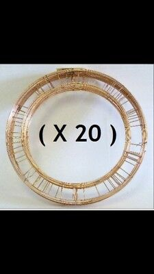 """20x 8"""" Metal Holly Wreath Ring Frames Christmas Craft Mossing Base Joblot Small"""
