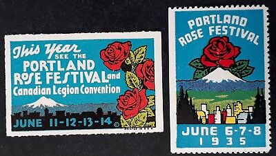 1930s United States pair of Portland Rose Festival Cinderellas Mint