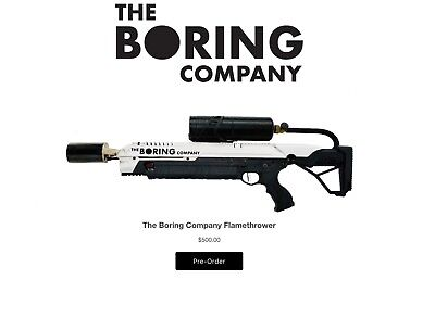 The Boring Company Not a Flamethrower: Low Number 2898 MANUAL + all box contents