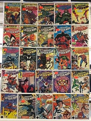 Copper Age Amazing Spider-Man Comics Huge Lot 25 Comic Book Collection Set Run