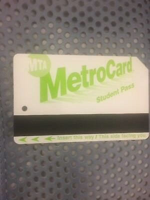 NYC Metrocard Empty For Collection Plastic Metro MTA Transit Card Student pass