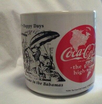 1994 CocaCola Mug Have a Coke Happy Days How to Feel at Home In The Bahamas