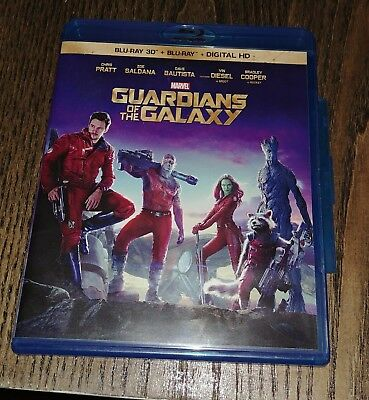 Guardians of the Galaxy (Blu-ray Disc, 2014,  3D)
