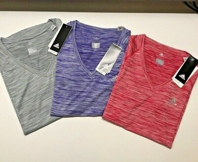 Adidas Women's Active V Neck T-Shirt - Variety - NWT