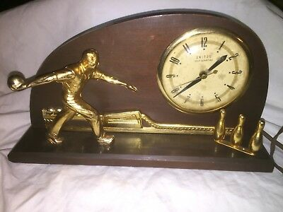 Vintage UNITED Self Starting Electric Bowling Clock