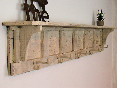 Antique Style Wall shelf, Distressed Wall Shelf, French Country Wall Shelf 48""