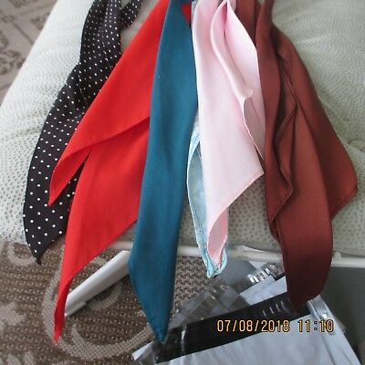 #4- LOT OF 5 -classic western scarf ties ,Perfect for square dance outfits,  .