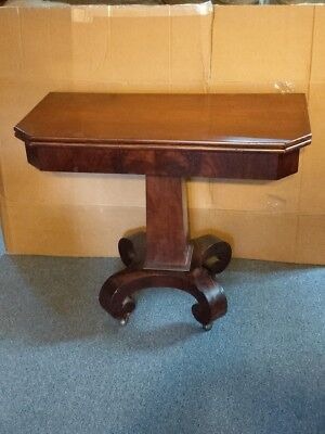 Antique American Empire Gaming Table C. 1830
