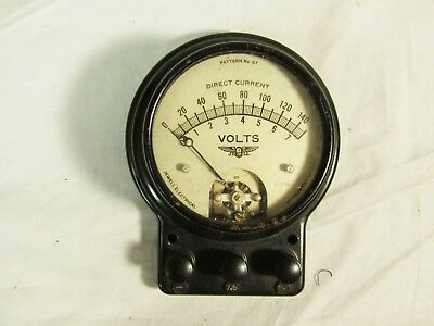 Vintage Jewell Electrical Instrument Co. DC Volt Meter with Box Steampunk