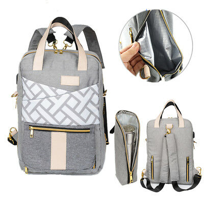Mummy Maternity Baby Diaper Bag Tote Backpack ,Stroller hook