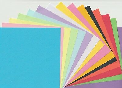 ORIGAMI Craft Paper Squares 75 sheets - 15 Colours, 15cm x 15cm - Double sided