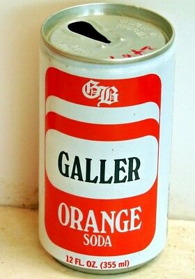 Galler Orange Soda; Galler Beverages, Inc.; Hackensack, NJ; Steel Soda Pop Can
