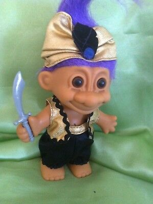Russ Troll Doll Ali Baba/Aladdin Storybook series collectable original purple
