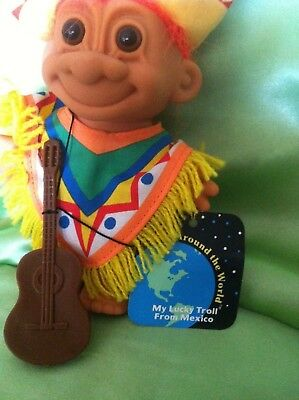 Russ Troll Doll Mexican Mexico Collectable Around The World series hang tag