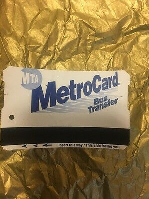 NYC Metrocard Empty For Collection  Metro MTA Transit Card