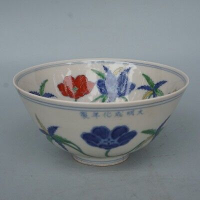 Chinese Exquisite Handmade flowers porcelain bowl