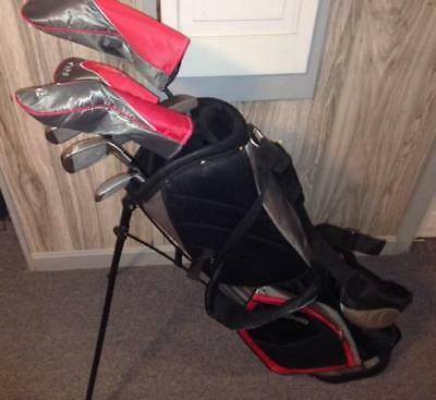Brand New  Mens Left Hand Wilson Profile XD Golf Club Set, Putter,Stand Bag