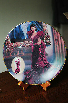"""GONE WITH THE WIND  8"""" collectors plate 1993 - red dress  BRADEX # 84-B10-9.1"""