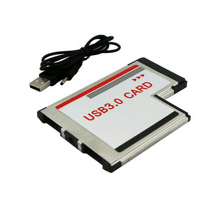 54mm Express Card to Dual Ports USB 3.0 Adapter Converter for Laptop Flowery
