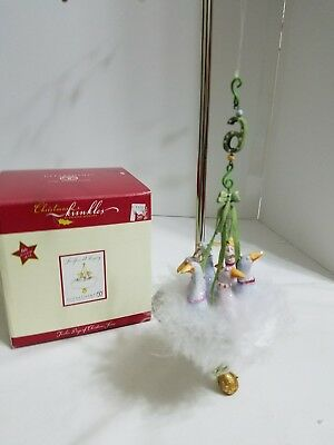Dept 56 Christmas Krinkles - 12 days of Christmas - 6 Geese a Laying ornament