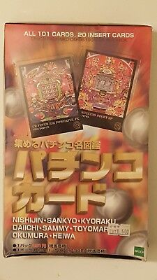 Scarce 1997 Epoch Pachinko Cards Wax Box - 10 Cards Per Pack-  Sealed