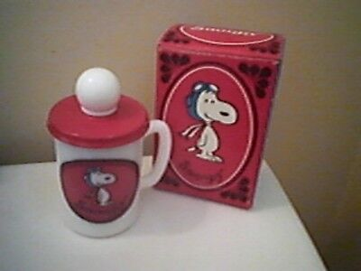 Vintage AVON Snoopy Liquid Soap Mug 1969