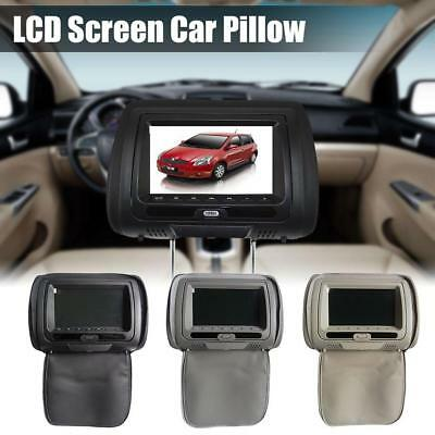 7″ TFT LCD Screen Car Pillow Headrest Monitor Game DVD/USB/SD Player IR FM