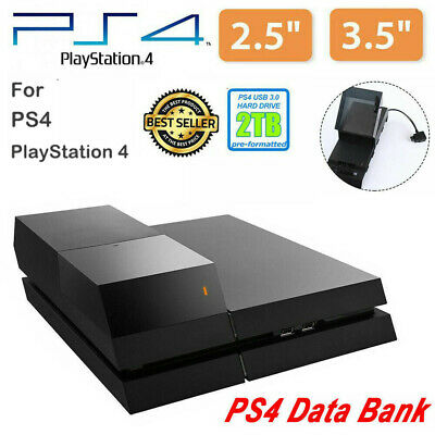 """3.5"""" 2TB Data Bank Game For PS4 External Hard Drive Case Peripherals Accessory"""