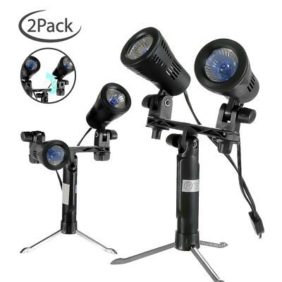 |2-Pack| Double Head Studio Quality High Output Photo Table Top Lights w/ Stand