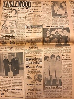 Vintage 1964 African American Chicago Newspaper Bulletin: Negro, Civil Rights