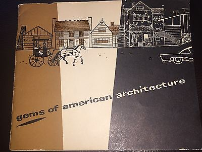 Vtg 1935 Antique Gems of American Architecture Outhouse Bathroom Book Booklet