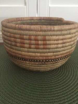 Vintage Native American Coiled Woven Basket