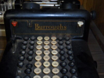 Vintage Burroughs Mechanical Adding Machine. Untested