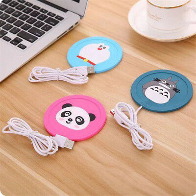 Cartoon 5V USB Warmer Silicone Heat Heater for Hot Drinks Beverage Cup Mat 2018