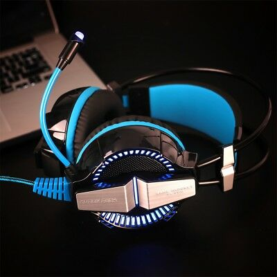 3.5mm Gaming Headset für PS4 PC Xbox One LED Licht Crystal Clarity Mobile YA