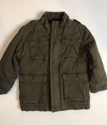 Baby Gap Boys Field Jacket Flannel Lined Size 4 Years