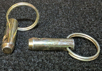 """3/8"""" Zinc Plated Steel Pull Ring King Pin, 1.3"""" Long (Qty. of 20)"""