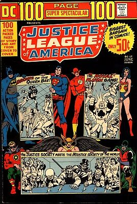 DC 100 Page Spectacular - Justice League of America #17 June 1973 VG+