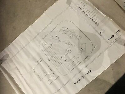 Lot of ORIGINAL Miami Vice blueprints and set designs-One of a kind!!!