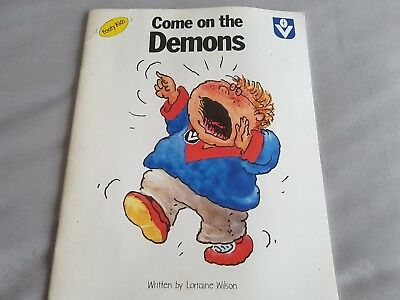Vfl Football, Footy Kids, Come On The Demons Childrens Book Rare Vgc Barassi Etc
