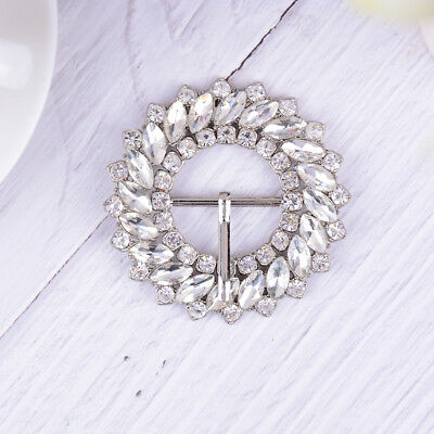 1PC rhinestone crystal shoe clips women bridal wedding shoes buckle decor  X