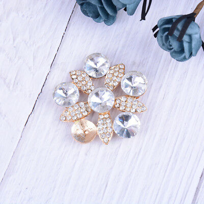 1PC rhinestone crystal shoe clips women bridal prom shoes buckle decor acces   X