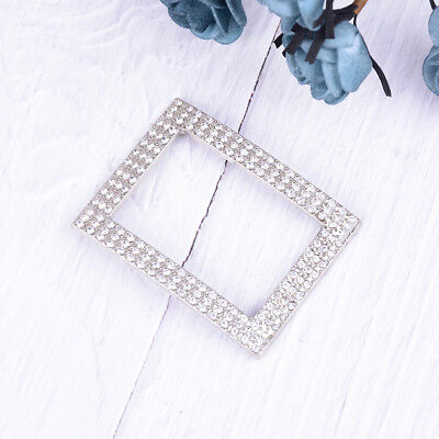 1PC silver rhinestone shoe clips women bridal prom shoes buckle decor acces  X