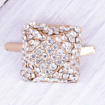 1PC square rhinestone shoe clips women bridal prom shoes buckle decor  X