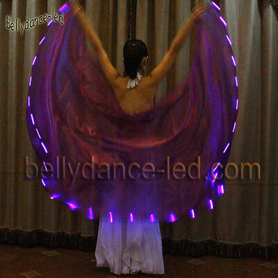 From USA!LED veil cape light up cosplay club show belly dance 2.3yd